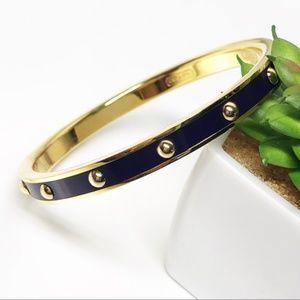 Coach Plum & Gold Studded Slim Bangle Bracelet